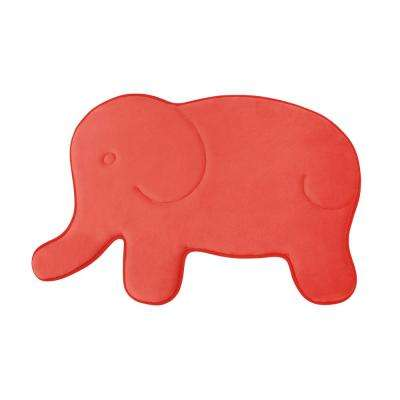 Elephant Coral 20 in. x 32 in. Memory Foam Bath Mat