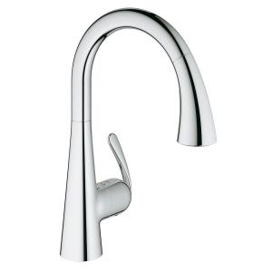 ladylux3 cafe pulldown sprayer kitchen faucet with dual spray in starlight