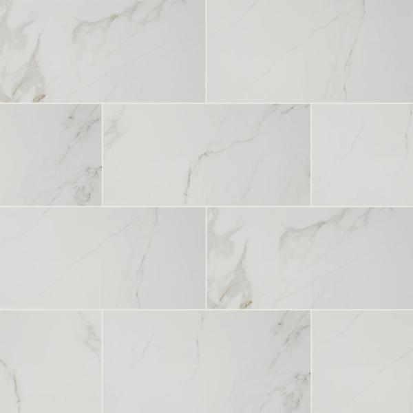 Home Decorators Collection 12 In. X 24 In. Carrara Polished Porcelain Floor And Wall Tile (16 Sq. Ft./case)-NHDCARR1224P - The Home Depot