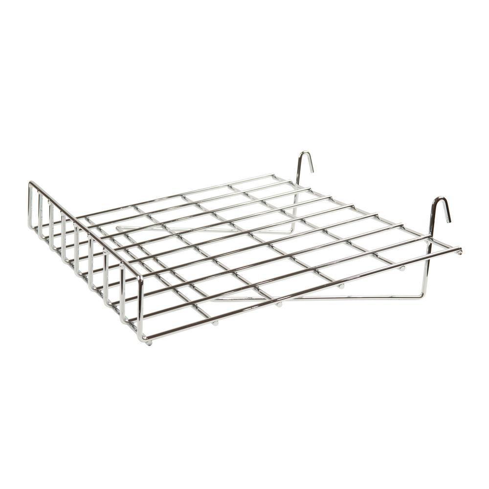 Econoco 24 in. W x 15 in. D Slant Chrome Wire Shelf with Front Lip (Pack of 4)
