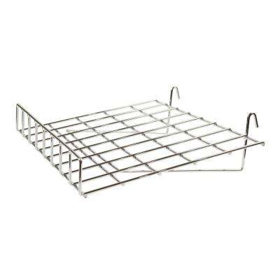 24 in W x 15 in. D Slant Chrome Wire Shelf with Front Lip