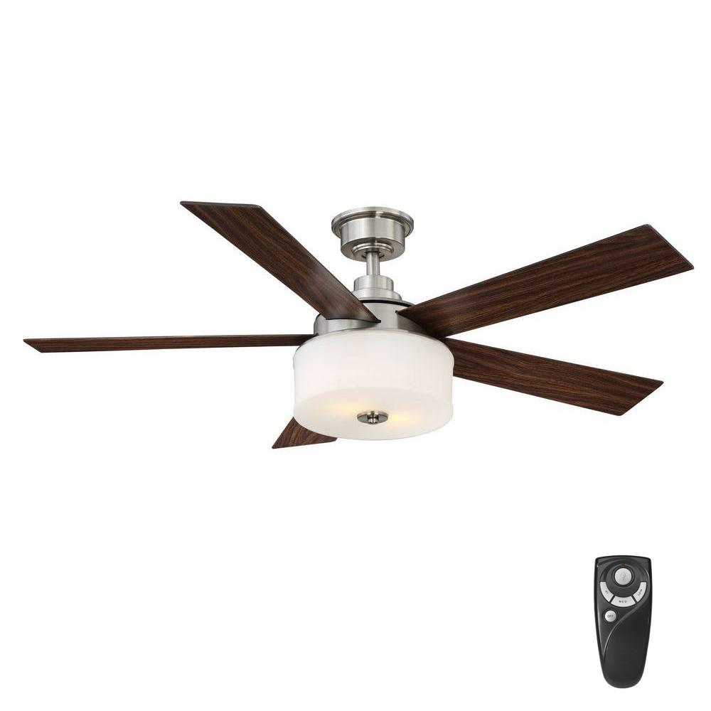 Home decorators collection lindbrook 52 in indoor brushed nickel home decorators collection lindbrook 52 in indoor brushed nickel ceiling fan with light kit and aloadofball