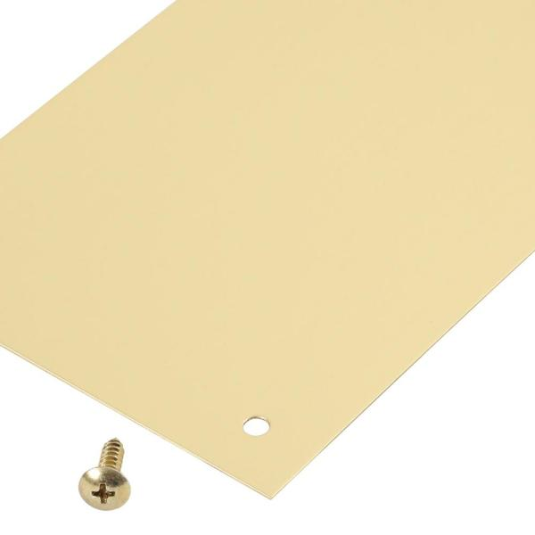 "Don-Jo 801544 Push Plate Polished Brass 4/"" x 16/"" Pack of 1"