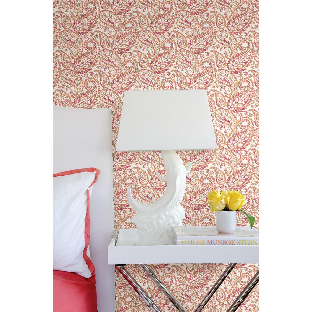 Adrian Pink Paisley Wallpaper