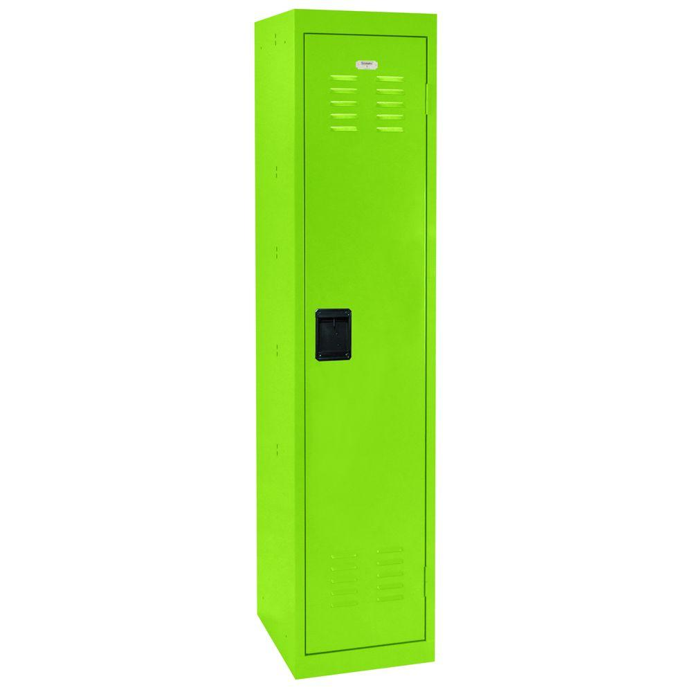 Sandusky 66 in. H Single-Tier Welded Steel Storage Locker in Electric Green