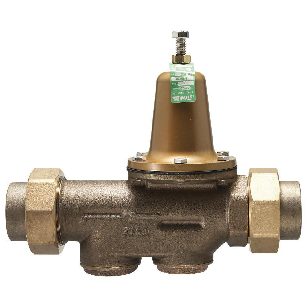 "WATTS 25AUB Water Pressure Reducing Valve 1"" Lead Free Brass 25-75 PSI"