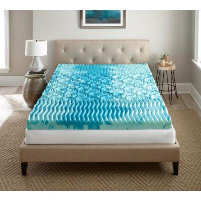 4 in. Twin Gel Memory Foam Mattress Topper