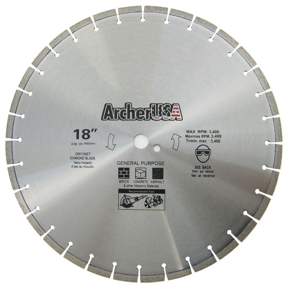 18 in. Diamond Blade for General Purpose