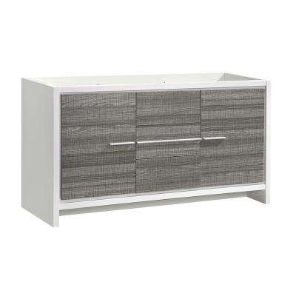Allier Rio 60 in. Modern Bathroom Vanity Cabinet in Ash Gray