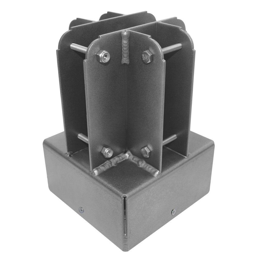 Yardistry 6 in. x 6 in. Aluminum Post Top Connector