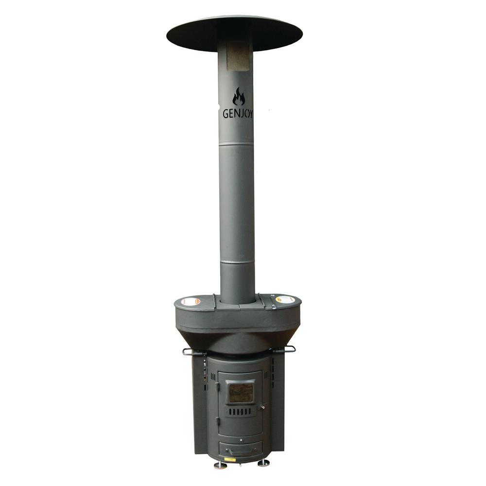 Q Flame 79 In 106 000 Btu Wood Pellet Outdoor Heater Q05 The Home