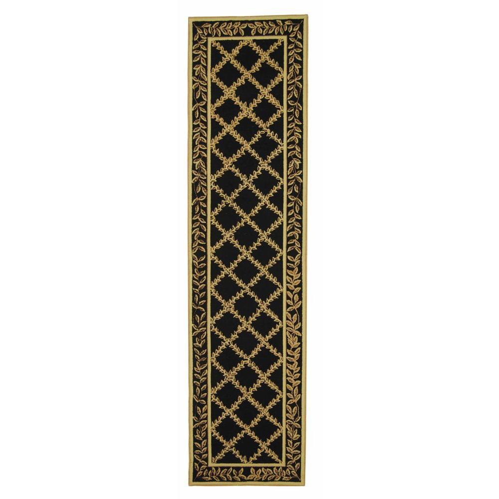 Chelsea Black/Gold 3 ft. x 10 ft. Runner Rug