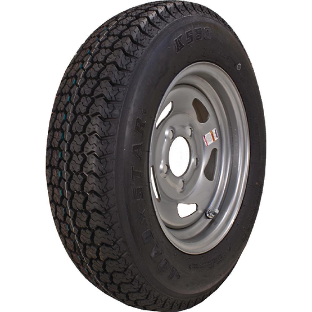 ST175/80D-13 K550 Bias 1360 lb. Load Capacity Silver 13 i...