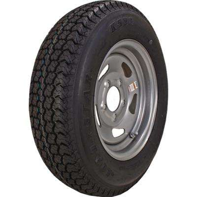 ST215/75D-14 K550 BIAS 1870 lb. Load Capacity Silver 14 in. Bias Tire and Wheel Assembly