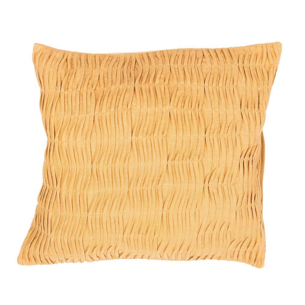 Petal Honey Gold Poly Decorative Pillow