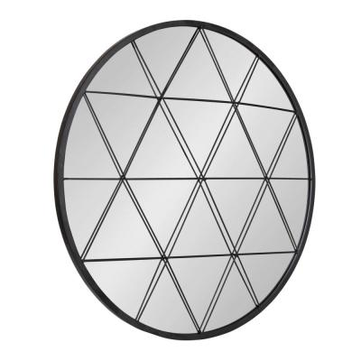 Medium Round Black Modern Mirror (31.89 in. H x 31.89 in. W)