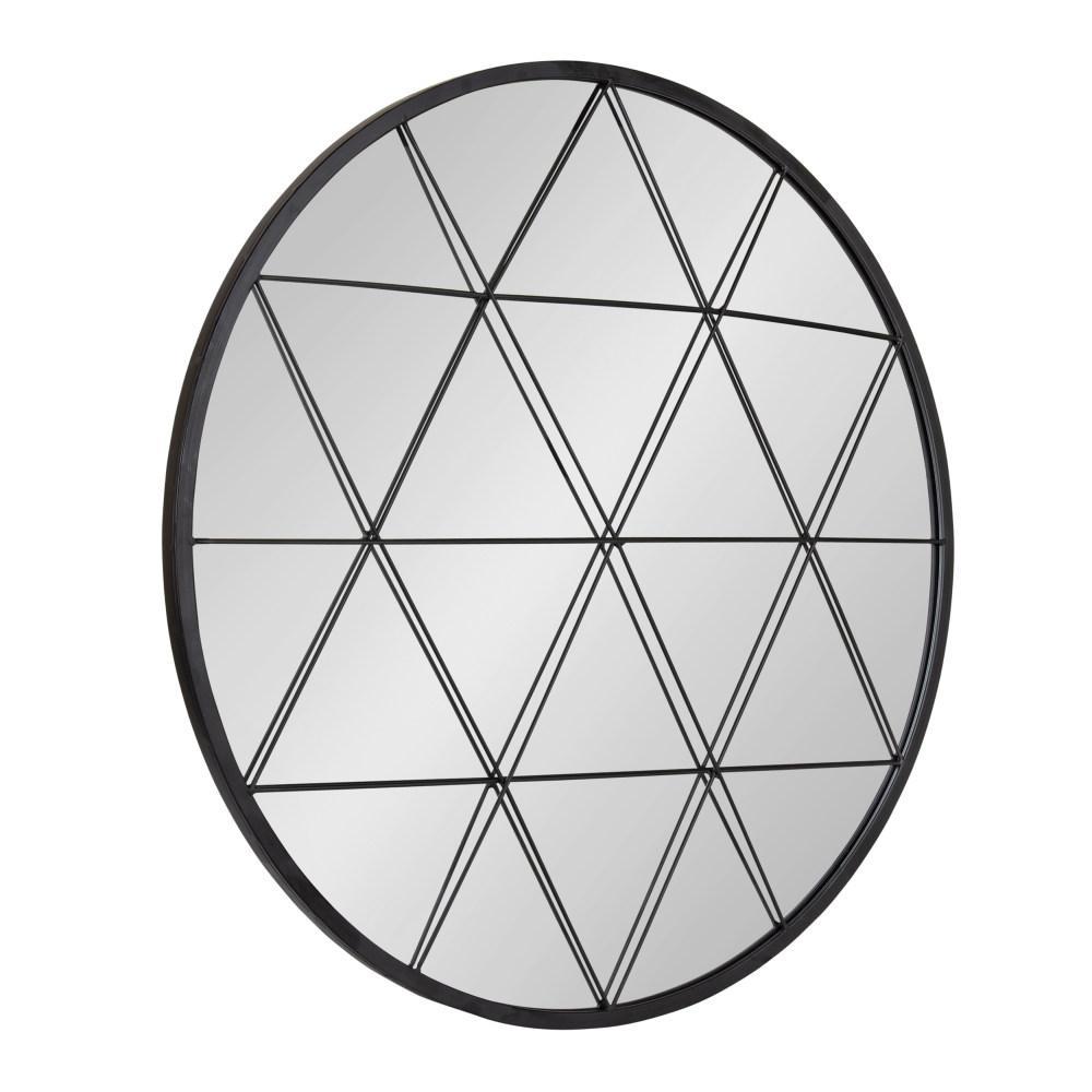 Medium Round Black Modern Mirror (31.89 in. H x 31.89 in. W)