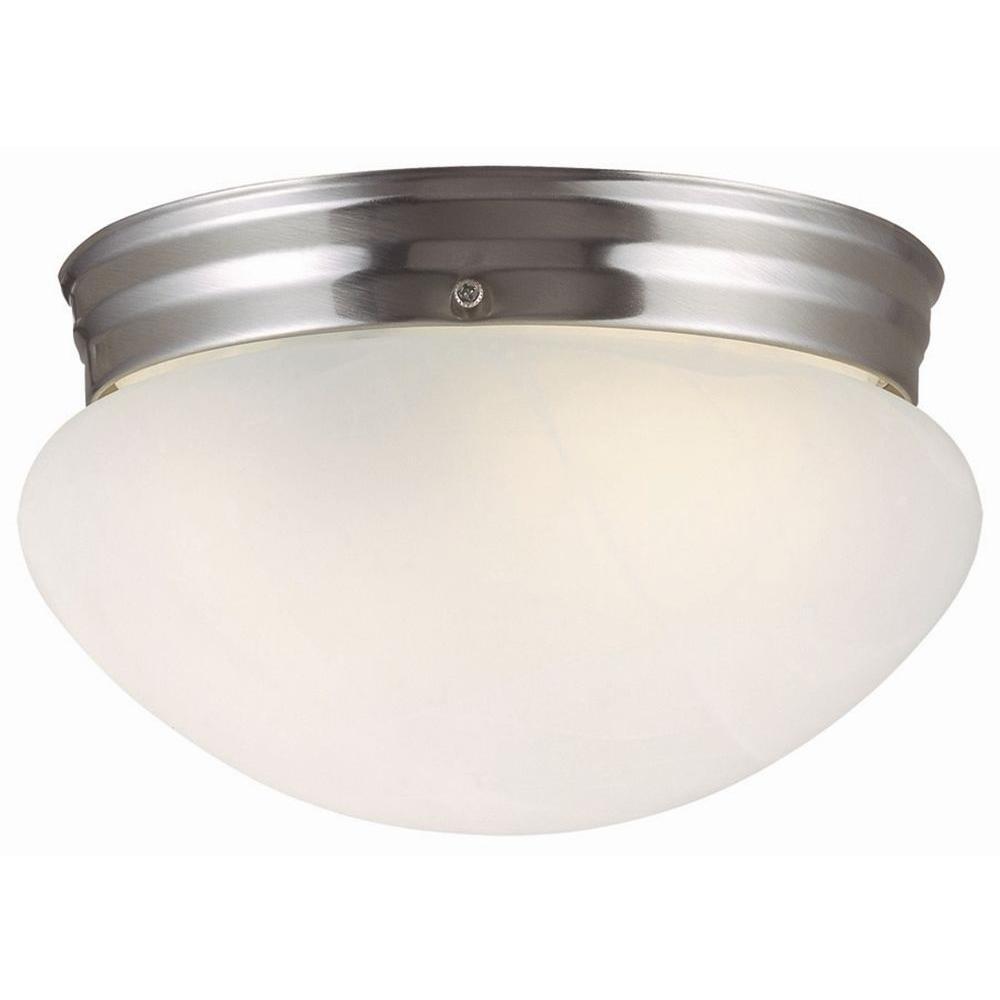 Millbridge 1-Light Satin Nickel Ceiling Light