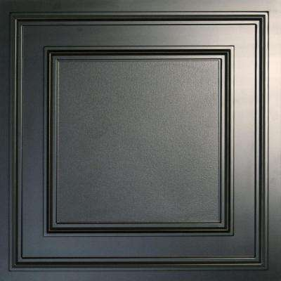 Cambridge Black 2 ft. x 2 ft. Lay-in or Glue-up Ceiling Panel (Case of 6)