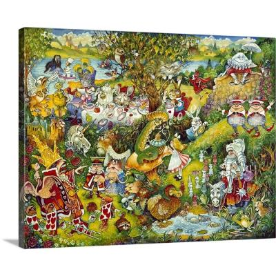 """Alice In Wonderland"" by Bill Bell Canvas Wall Art"