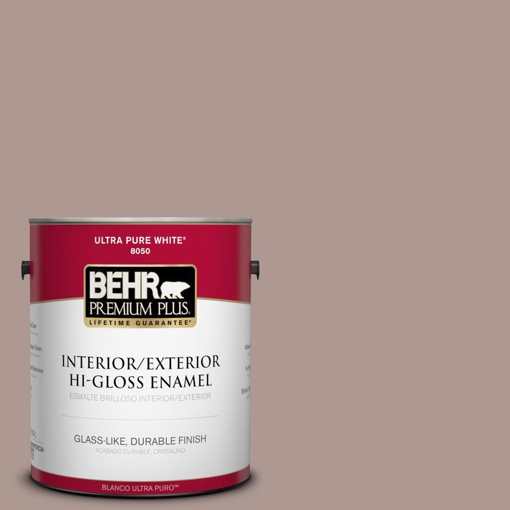 BEHR Premium Plus 1-gal. #ECC-61-1 Desert Dusk Hi-Gloss Enamel Interior/Exterior Paint