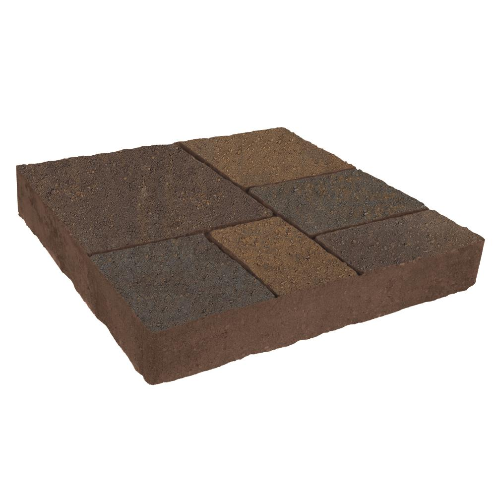 Valestone Hardscapes Avellino Stone 16 in. x 16 in. x 2.25 in. Toscana Beige/Charcoal Concrete Step Stone (72 Pcs / 120 sq. ft. / Pallet)