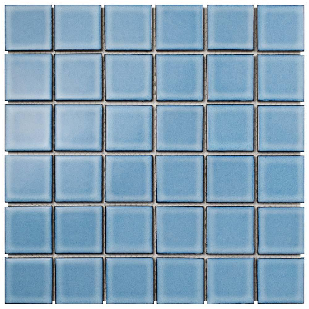 Merola Tile Oceania Quad Caribbean 11-7/8 in. x 11-7/8 in. x 6 mm ...