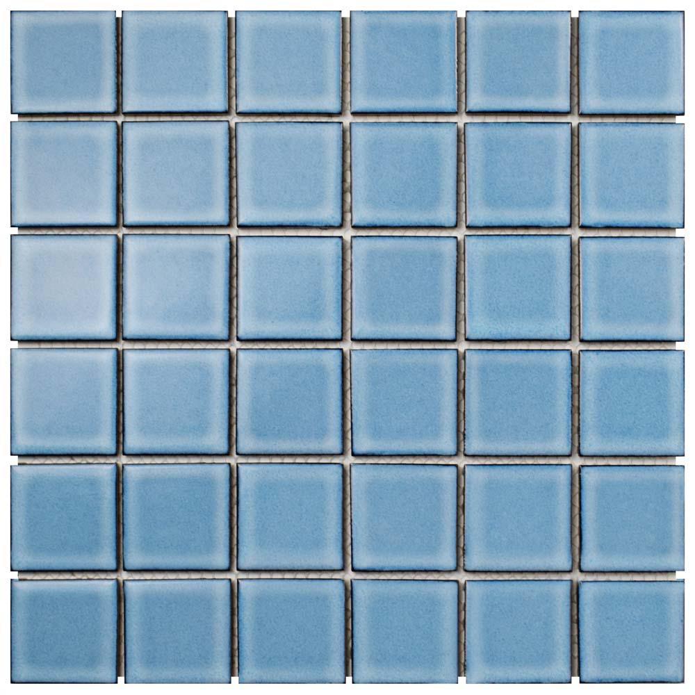 Oceania Quad Caribbean 11-7/8 in. x 11-7/8 in. x 6 mm Porcelain Mosaic Tile