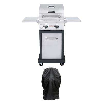 Evolution 2-Burner Propane Gas Grill in Stainless Steel with Infrared Technology Plus Grill Cover