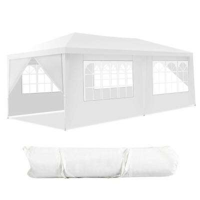 10 ft. x 20 ft. Canopy Tent Wedding Party Tent 6 Sidewalls with Carry Bag