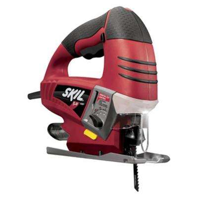 5 Amp Corded Electric Variable Speed Orbital Cut Jig Saw with Light