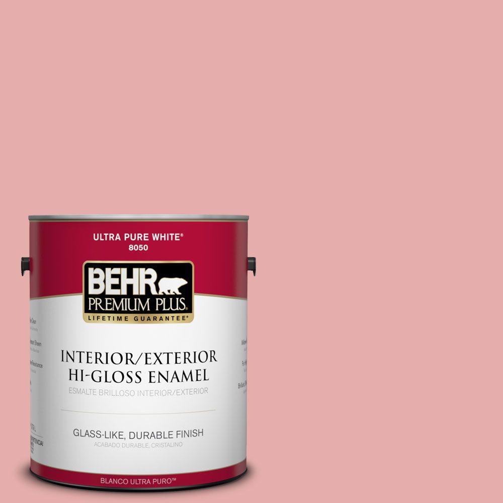 1-gal. #160C-3 Rose Silk Hi-Gloss Enamel Interior/Exterior Paint