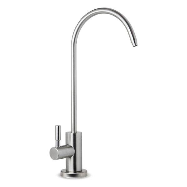 Ispring Single Handle Stainless Steel Drinking Water Faucet For Reverse Osmosis Water Filtration Systems Ga1 Ss The Home Depot