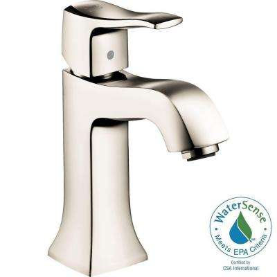 Metris C Single Hole 1-Handle Mid-Arc Bathroom Faucet in Polished Nickel