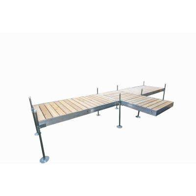 8 ft. Shore T-Style Aluminum Frame with Cedar Decking Complete Dock Package
