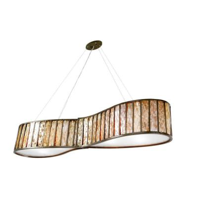 Affinity 6-Light New Bronze Pendant with Towers of Natural Capiz