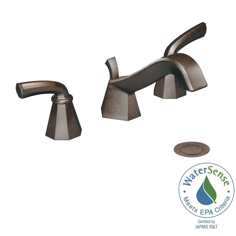 MOEN Felicity 8 in. Widespread 2-Handle Bathroom Faucet Trim Kit in Oil Rubbed Bronze (Valve Not Included)