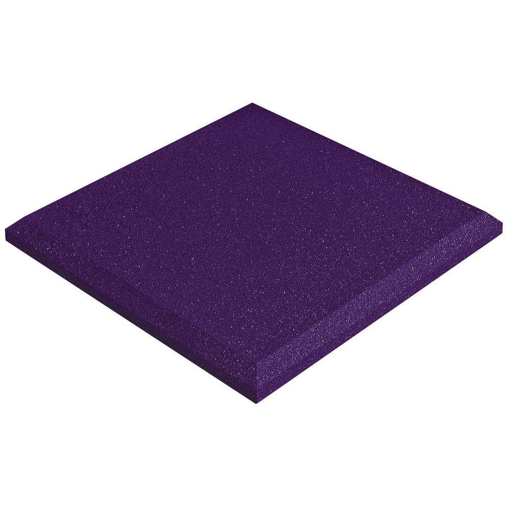 2 in. x 24 in. x 24 in. Studiofoam Panels - Purple (4-Pack)