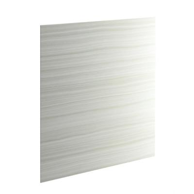 Choreograph 60 in. x 72 in. 1-Piece Easy Up Adhesive Alcove Back Wall in VeinCut Dune