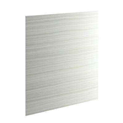 Choreograph 60 in. W x 72 in. H 1-Piece Easy Up Adhesive Alcove Wall in VeinCut Dune