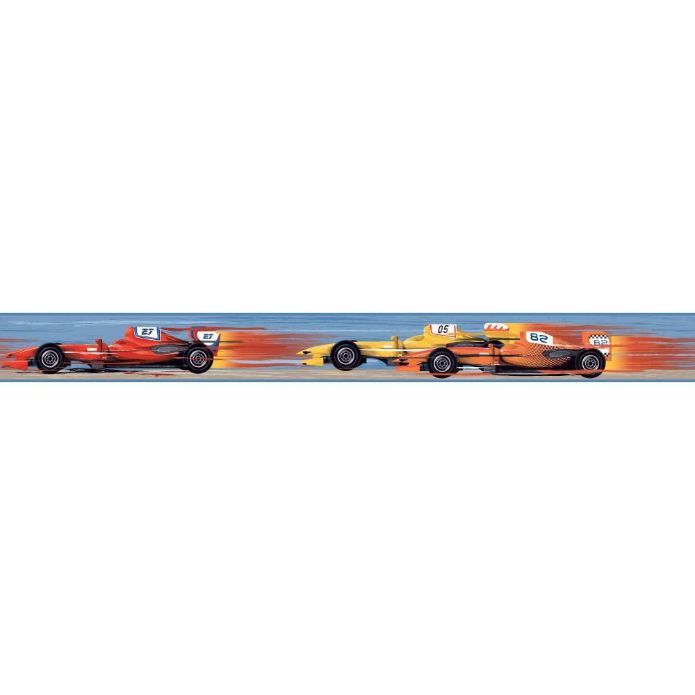 YORK Cool Kids Race Car Wallpaper Border, Multi-Colored