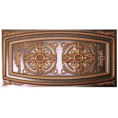 Riga 2 ft. x 4 ft. Antique Copper Lay-in or Glue-up Border Ceiling Tile (80 sq. ft. / case)