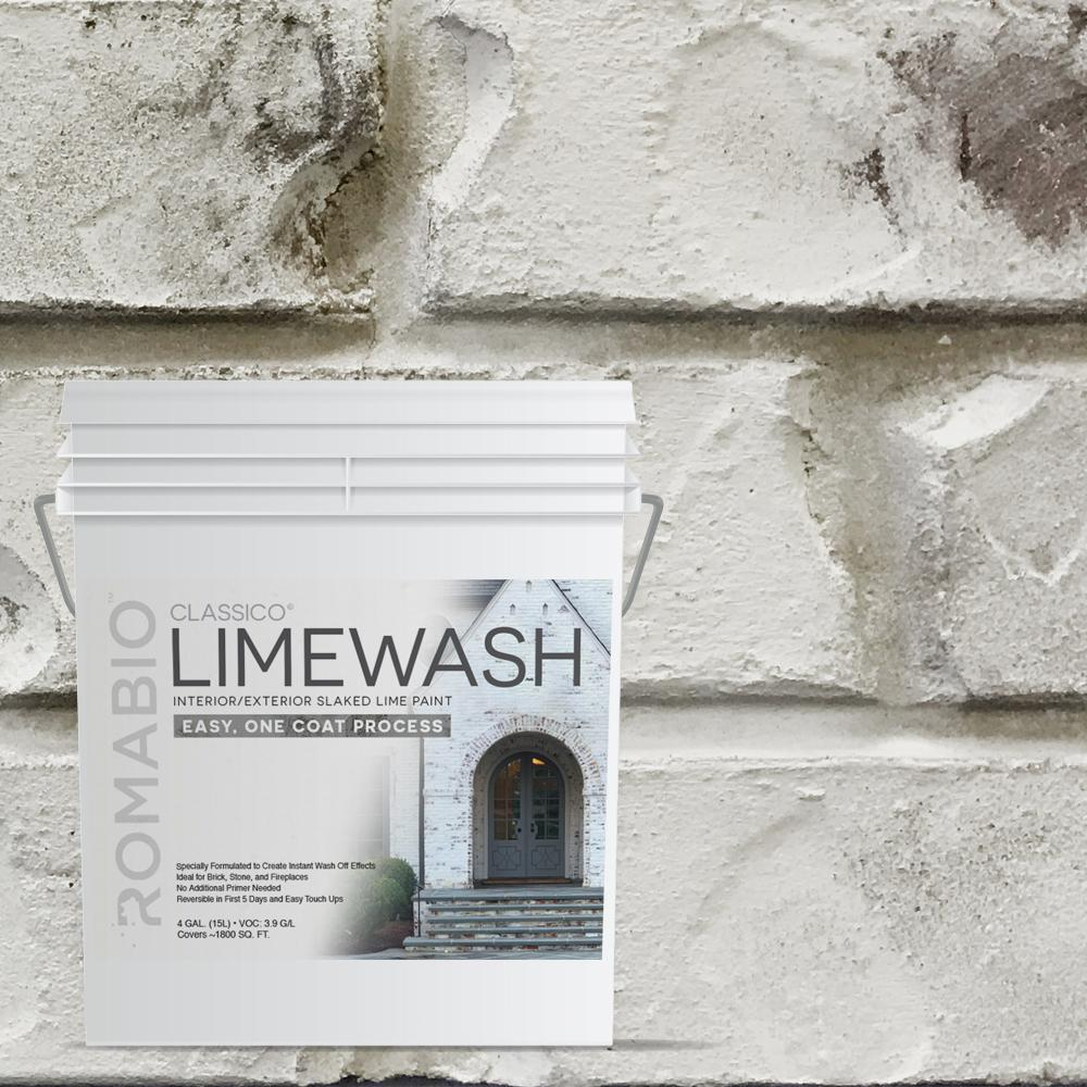 Cristallo White Limewash Interior Exterior Paint