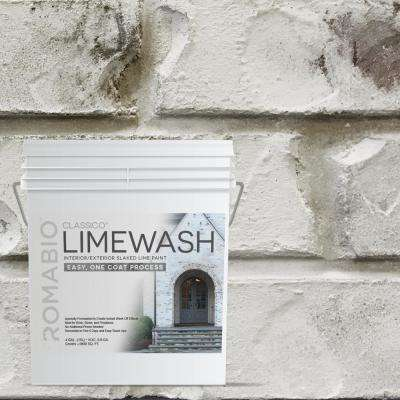 4 gal. Cristallo White Limewash Interior/Exterior Paint