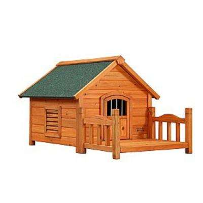 2 ft. L x 2.3 ft. W x 1.9 ft. H Small Porch Pups Dog House