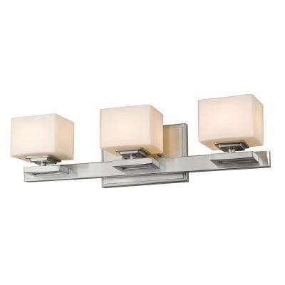 3-Light Brushed Nickel LED Bath Light