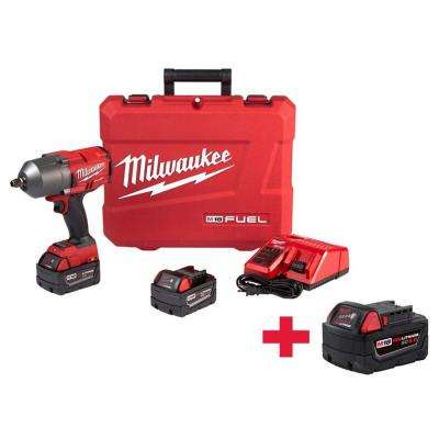 M18 FUEL 18-Volt Lithium-Ion Brushless Cordless 1/2 in. Gen II HTIW with Friction Ring Kit withFree 5.0AH Battery