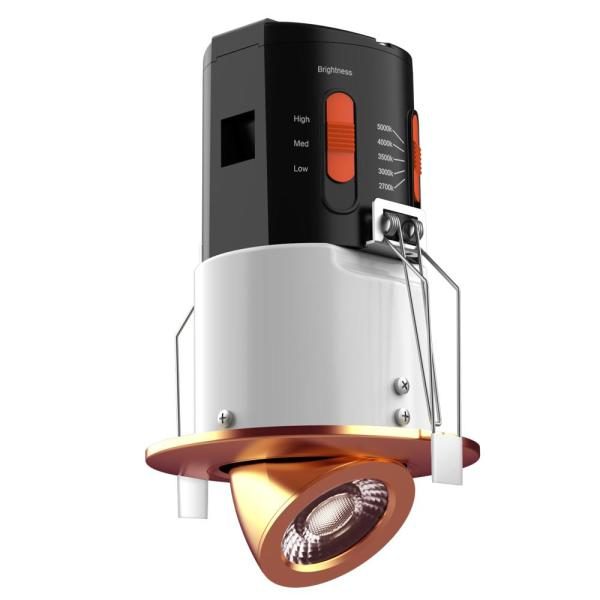 Premium Downlight 3 in. Copper Integrated LED Recessed Gimbal Kit
