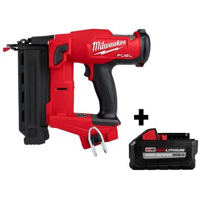 M18 FUEL 18-Volt Lithium-Ion Brushless Cordless Gen II 18-Gauge Brad Nailer with HIGH OUTPUT XC 8.0 Ah Battery