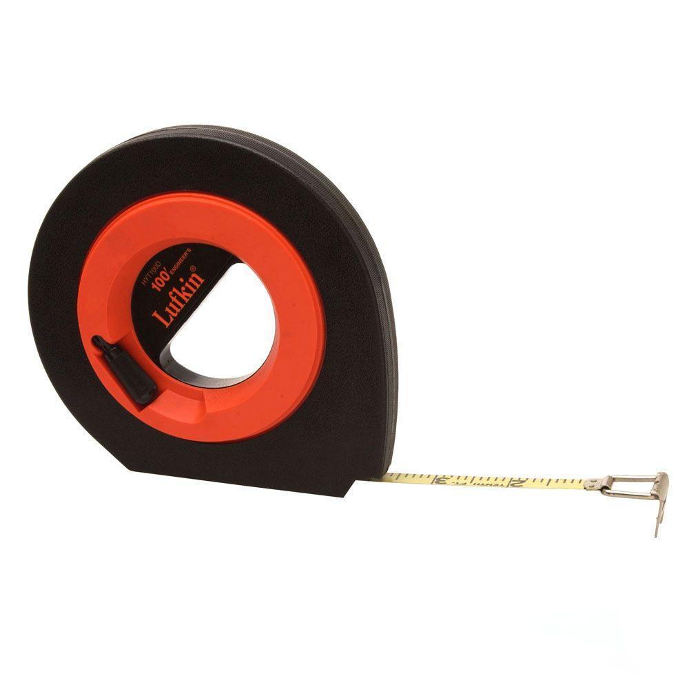 3/8 in. x 100 ft. Engineers Speedwinder Steel Long Tape Measure